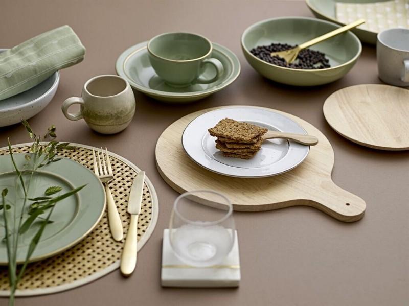 Passe au Lave-Vaisselle Thomas Sunny Day Coquetier avec Coupelle Porcelaine 15525 Vert Pomme
